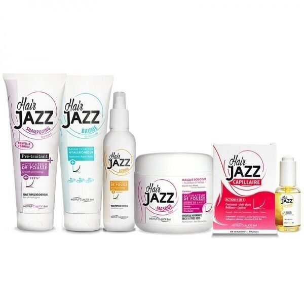 HAIR JAZZ Schampo, Lotion, Hyaluronic Balsam, Hårinpackning, Vitaminer och Serum