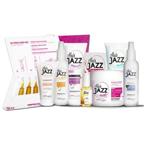 HAIR JAZZ Schampo, Lotion, Hyaluronic Balsam, Hårinpackning, Vitaminer, Serum, Skydd mot värme, Leave-in hårkräm och Ampuller